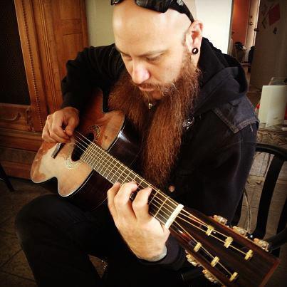 Unida guitarist Arthur Seay plays Dey Martin acoustic.