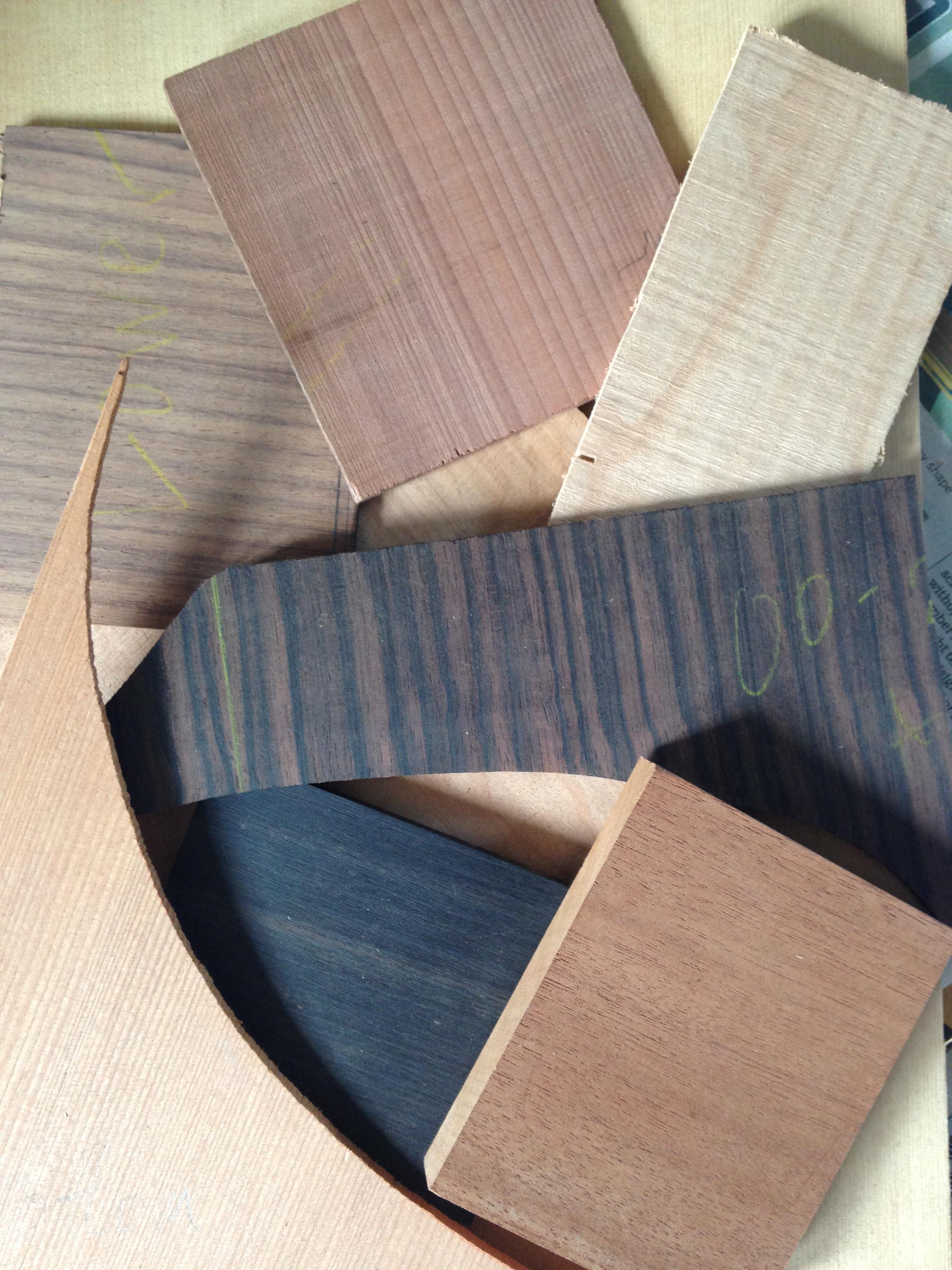 Various guitar tonewoods