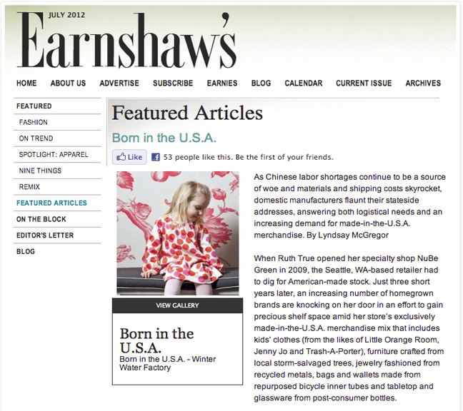 earnshaw's magazine+winter water factory