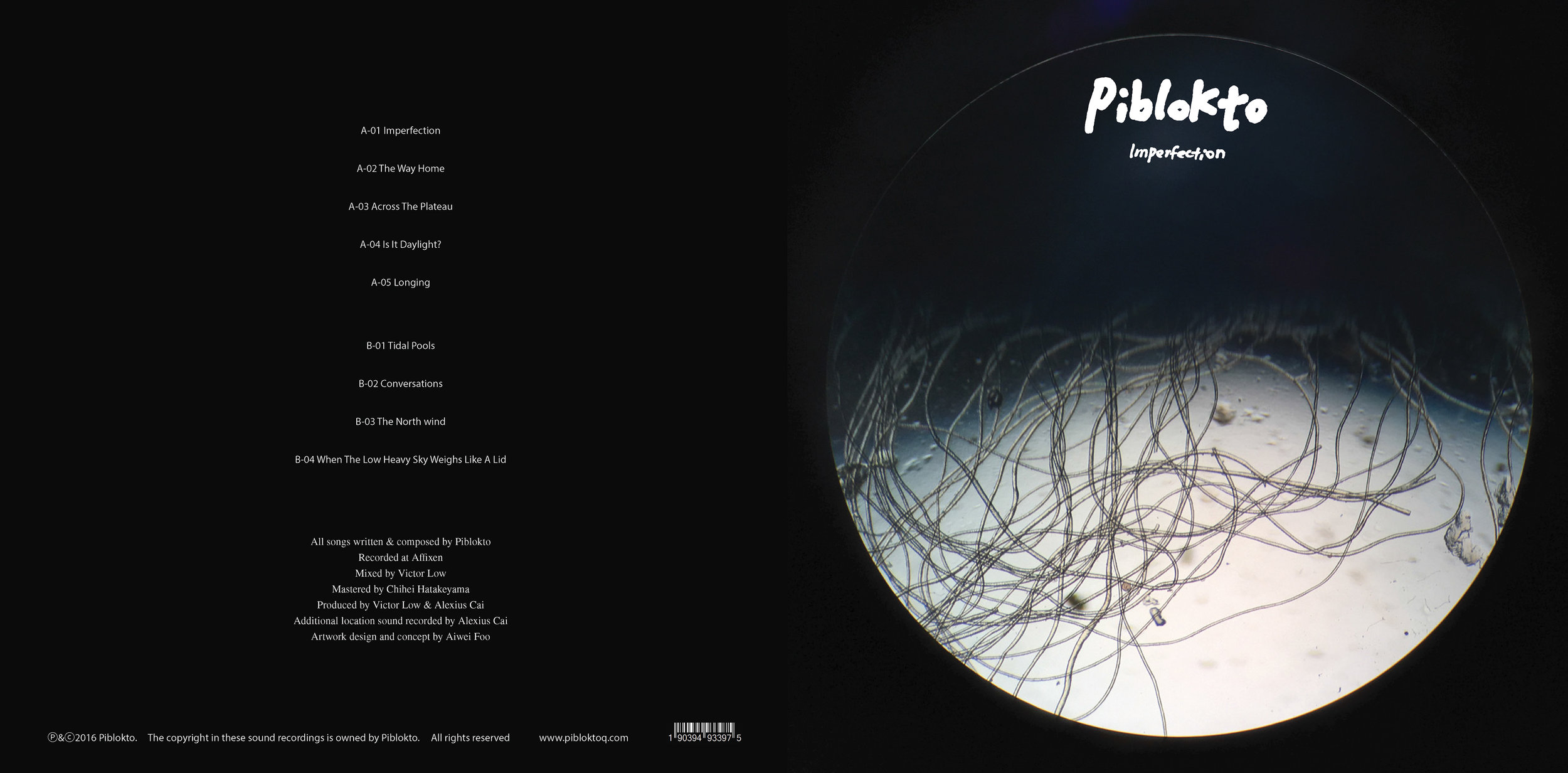 Album art and sleeve design for Singapore-based musician Piblokto.