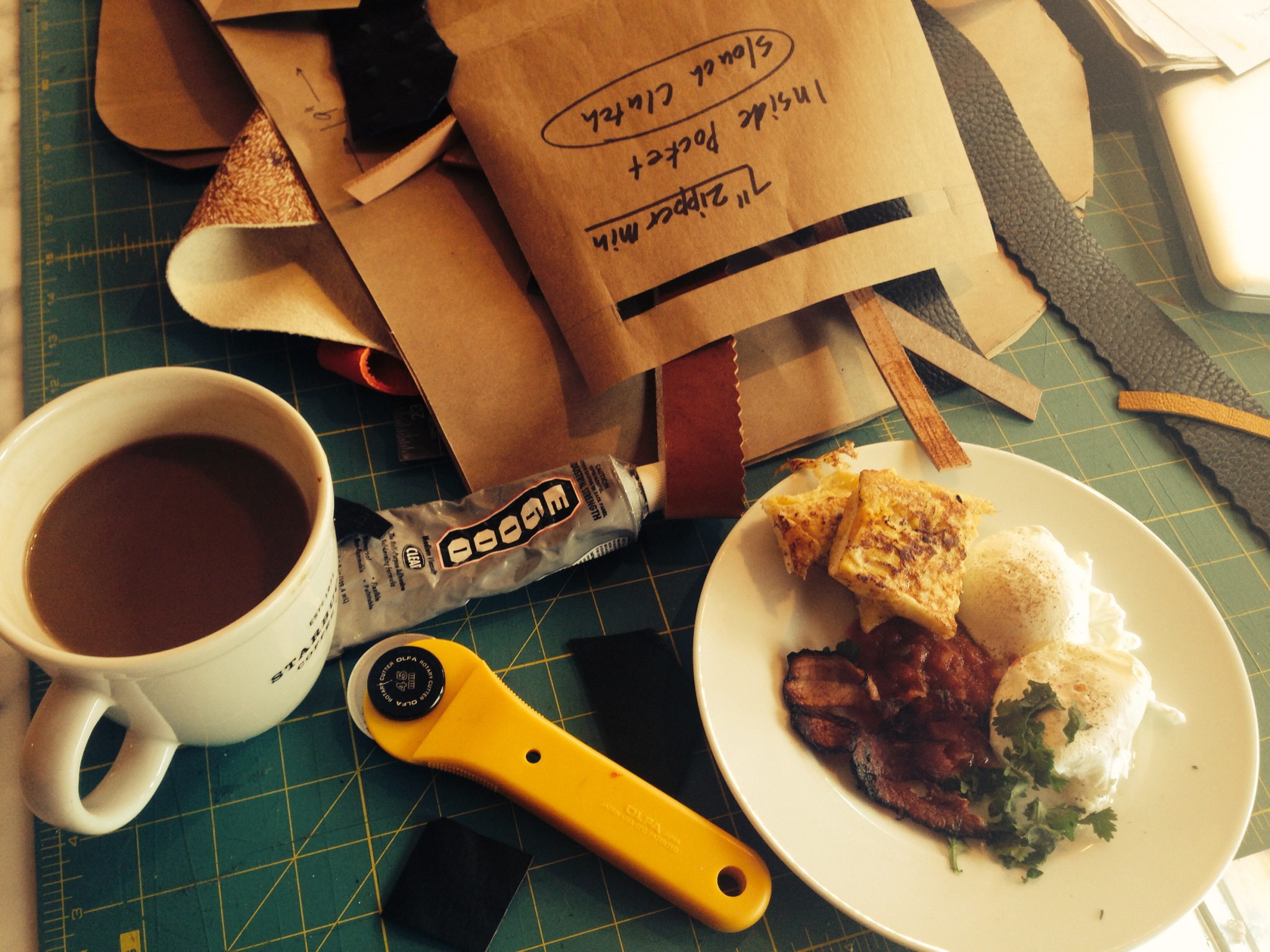 sometimes creative energy gets in the way of breakfast... ooops!