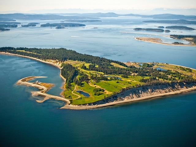 PICTURED ABOVE:    James Island is a 780-acre private island located in the British Columbia island chain known as the Gulf Islands just north of the San Juan Islands in Washington.