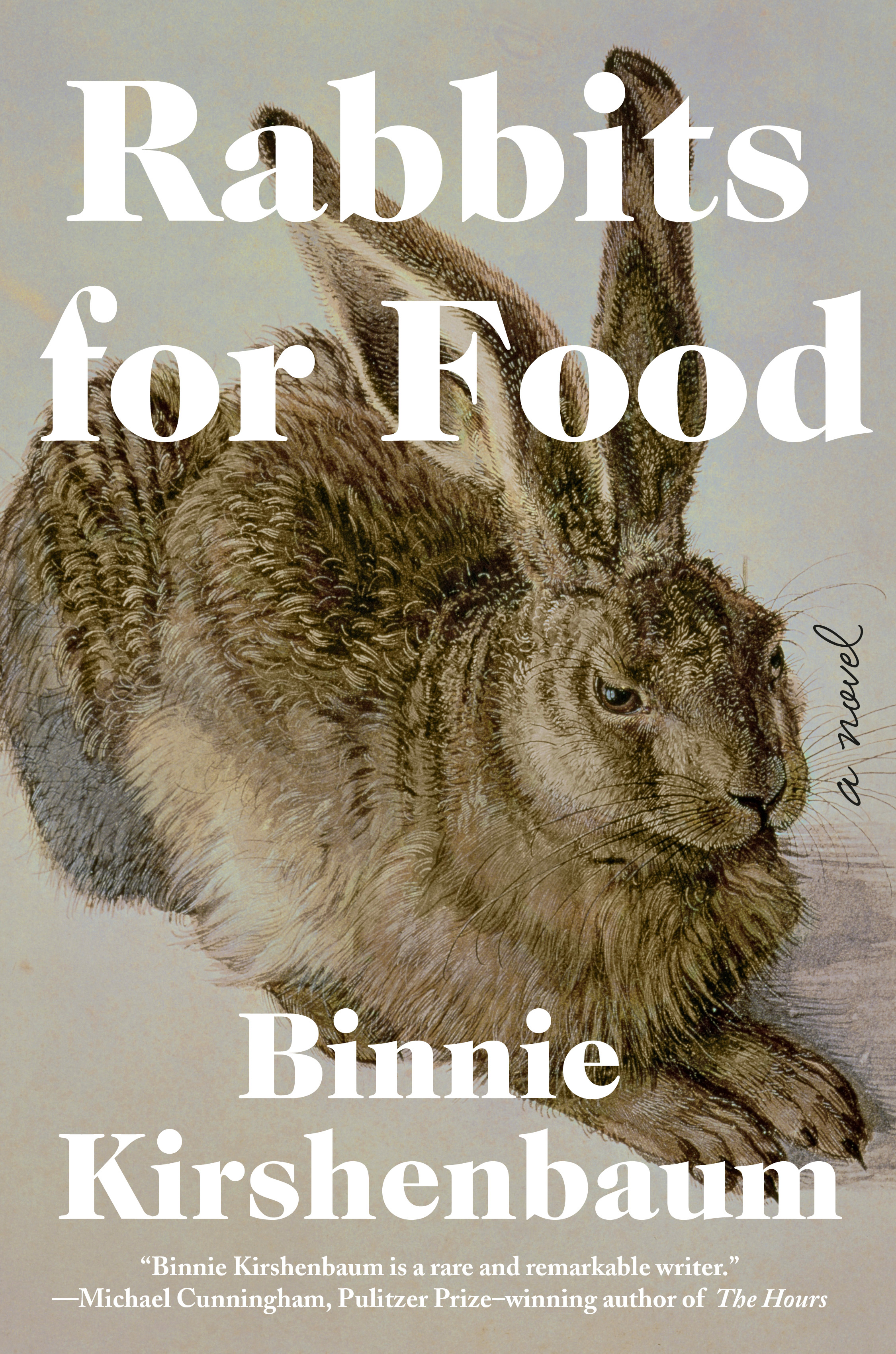 """Forthcoming May 7, 2019 - Master of razor-edged literary humor Binnie Kirshenbaum returns with her first novel in a decade, a devastating, laugh-out-loud funny story of a writer's slide into depression and institutionalization.It's New Year's Eve, the holiday of forced friendship, mandatory fun, and paper hats. While dining out with her husband and their friends, Kirshenbaum's protagonist—an acerbic, mordantly witty, and clinically depressed writer—fully unravels. Her breakdown lands her in the psych ward of a prestigious New York hospital where she refuses all modes of recommend treatment. Instead, she passes the time chronicling the lives of her fellow """"lunatics"""" and writing a novel about how she got to this place. Her story is a hilarious and harrowing deep dive into the disordered mind of a woman who sees the world all too clearly.Propelled by stand-up comic timing and rife with pinpoint insights, Kirshenbaum examines what it means to be unloved and loved, to succeed and fail, to be at once impervious and raw. Rabbits for Food shows how art can lead us out of—or into—the depths of disconsolate loneliness and piercing grief. A bravura literary performance from one of our most witty and indispensable writers."""