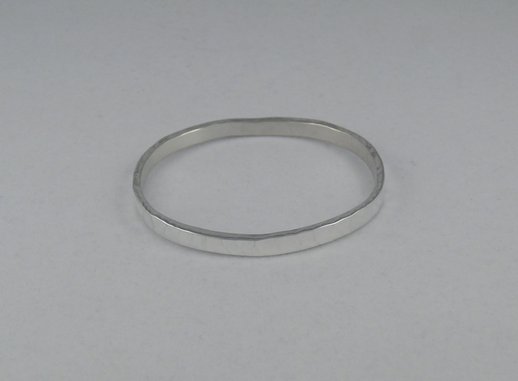 Hammered Bangle Bracelet