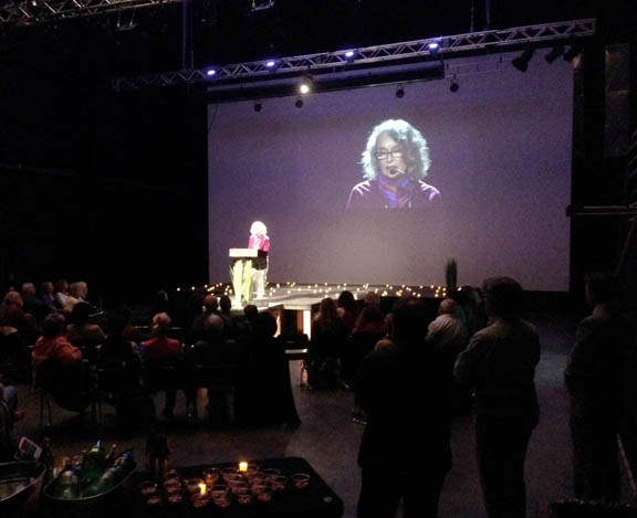 Rosalind Brenner reading at the 2014 LTV Poetry Affair