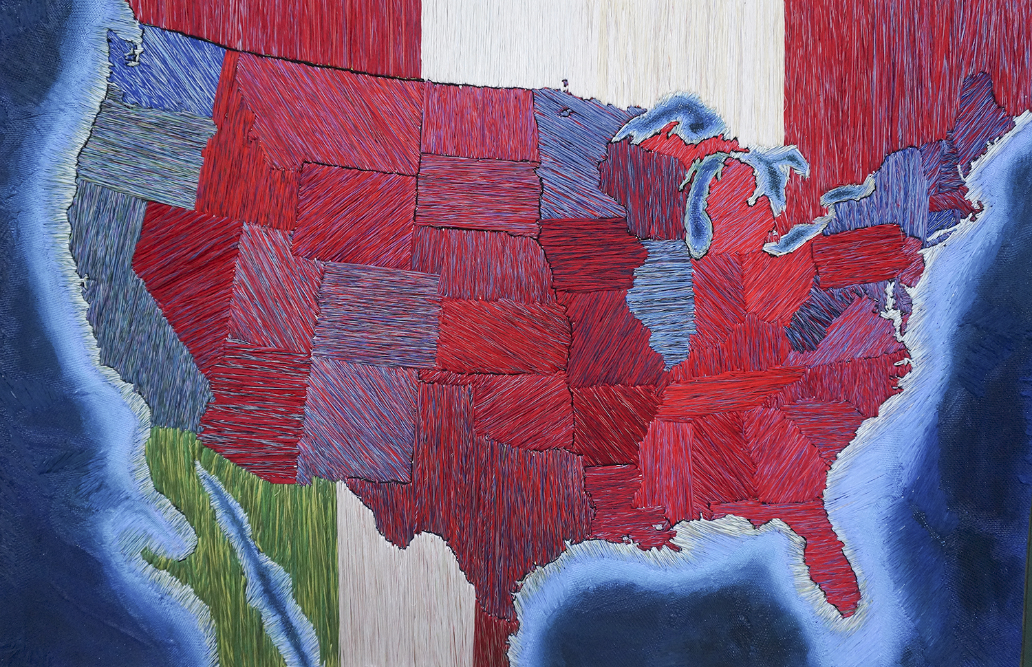 American Map: Red and Blue States