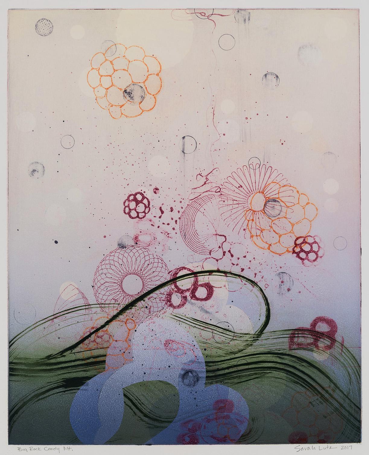 Sarah Lutz, Big Rock Candy Mountain (No. 11), 2017, monotype