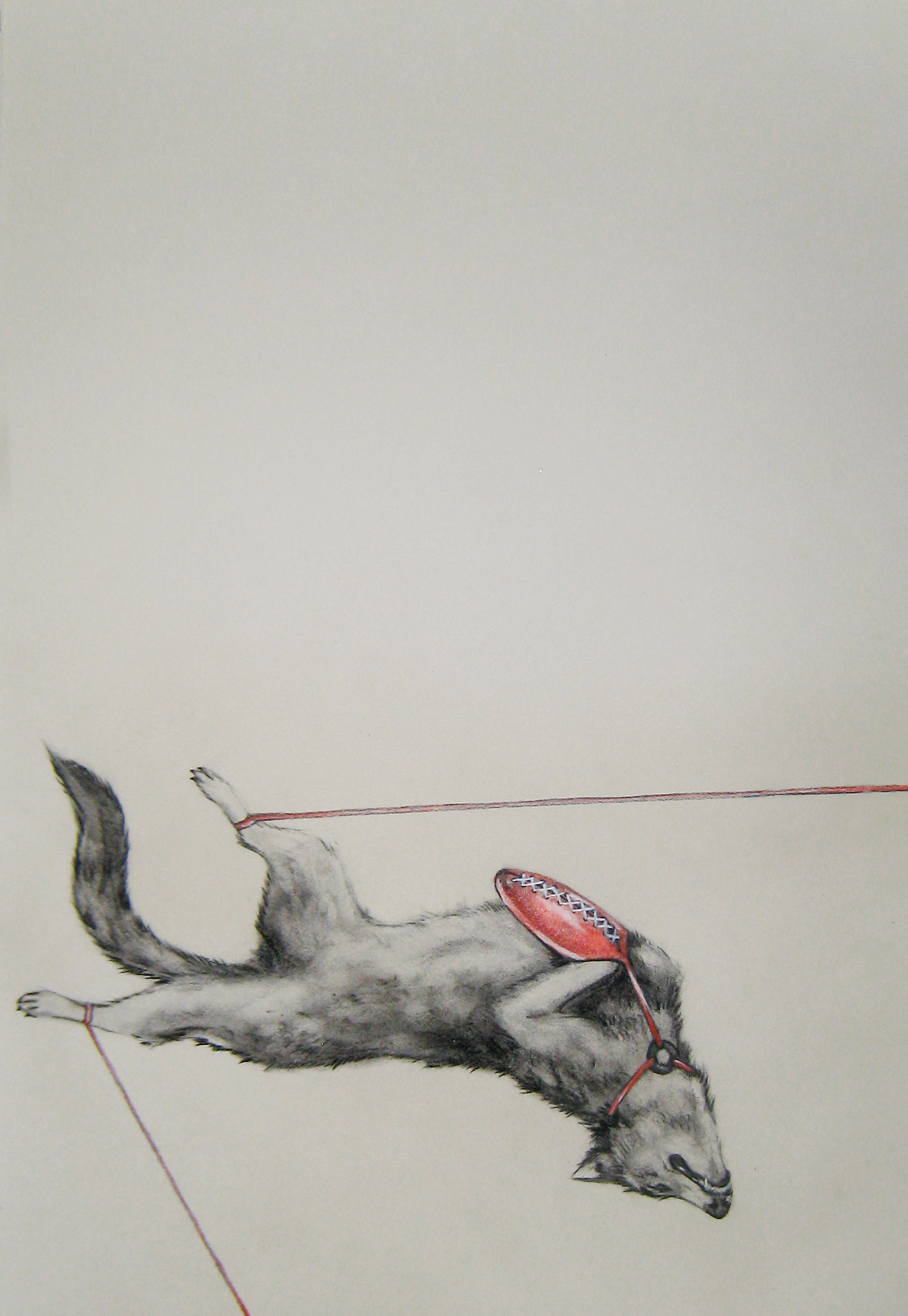 """Walk of Fame 2, 2012  Charcoal and pencil on paper  14x22"""""""