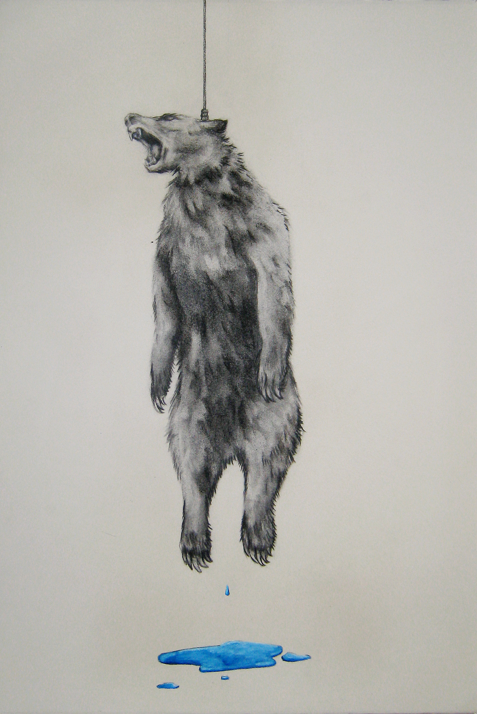 """Walk of Fame 3, 2012  Charcoal and pencil on paper  14x22"""""""