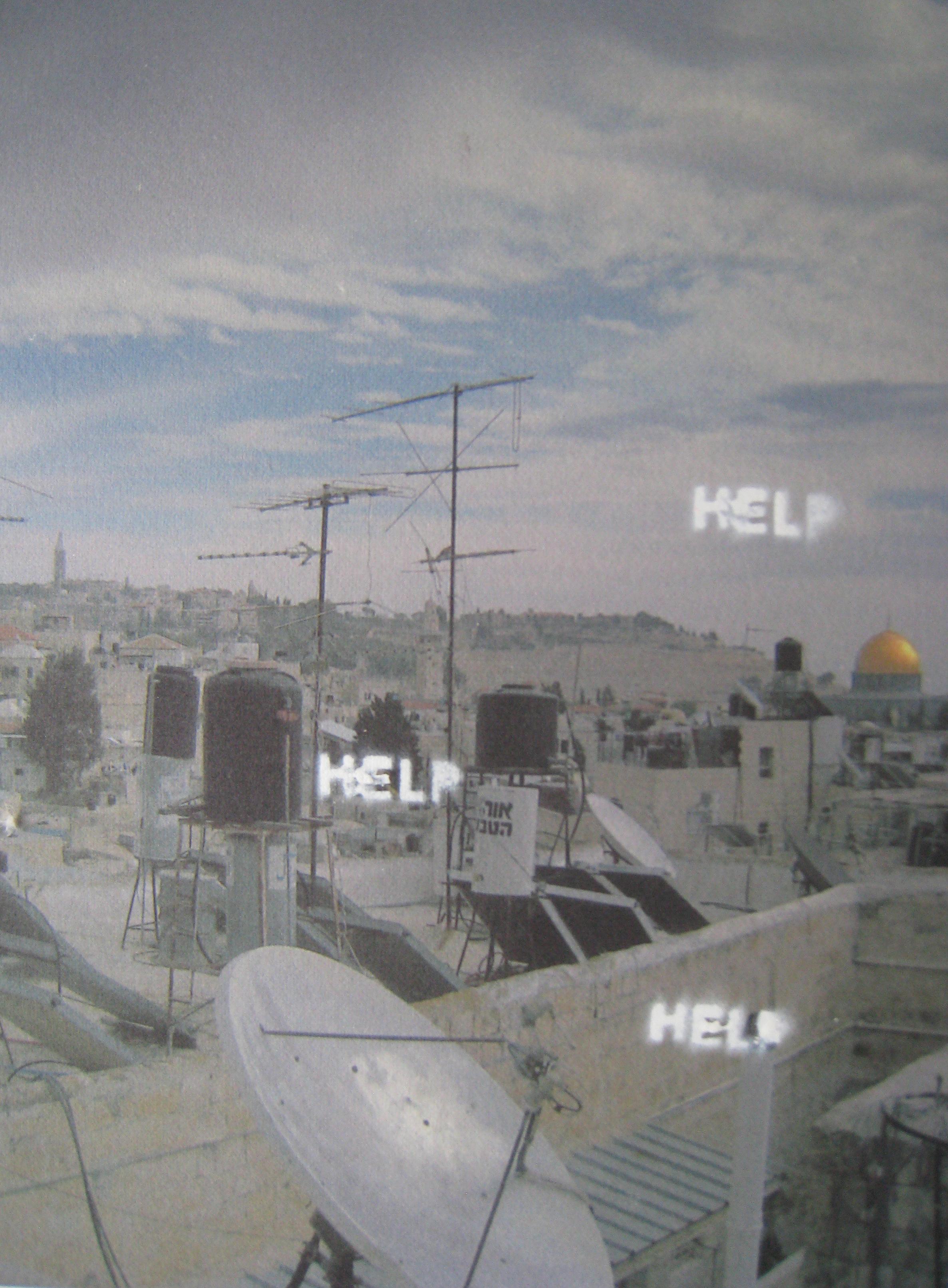 """Curio (Jerusalem), 2014  acrylic on inkjet print  7x10"""""""