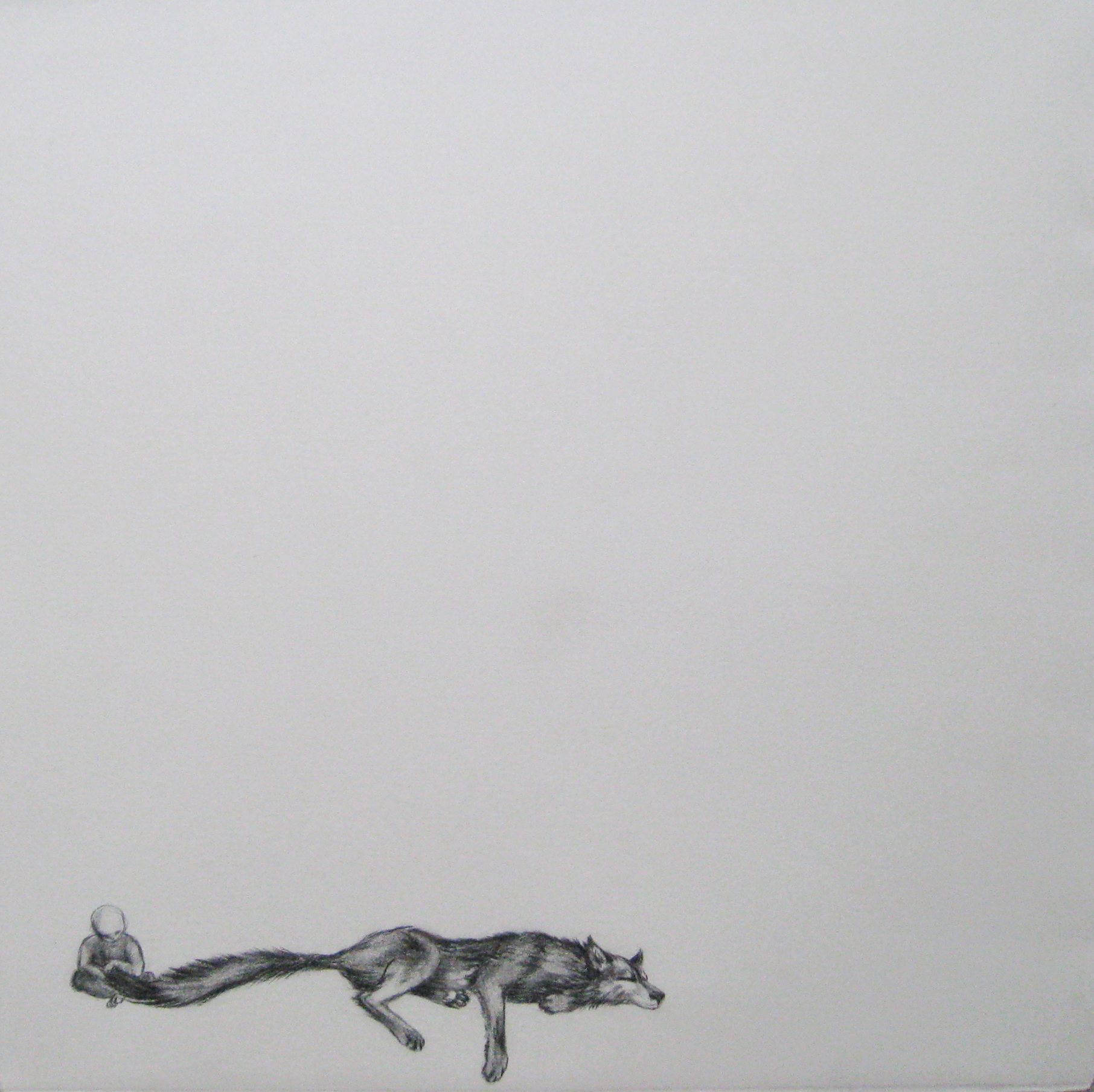 """Untitled1/3, 2005  Charcoal on paper  14x14"""""""