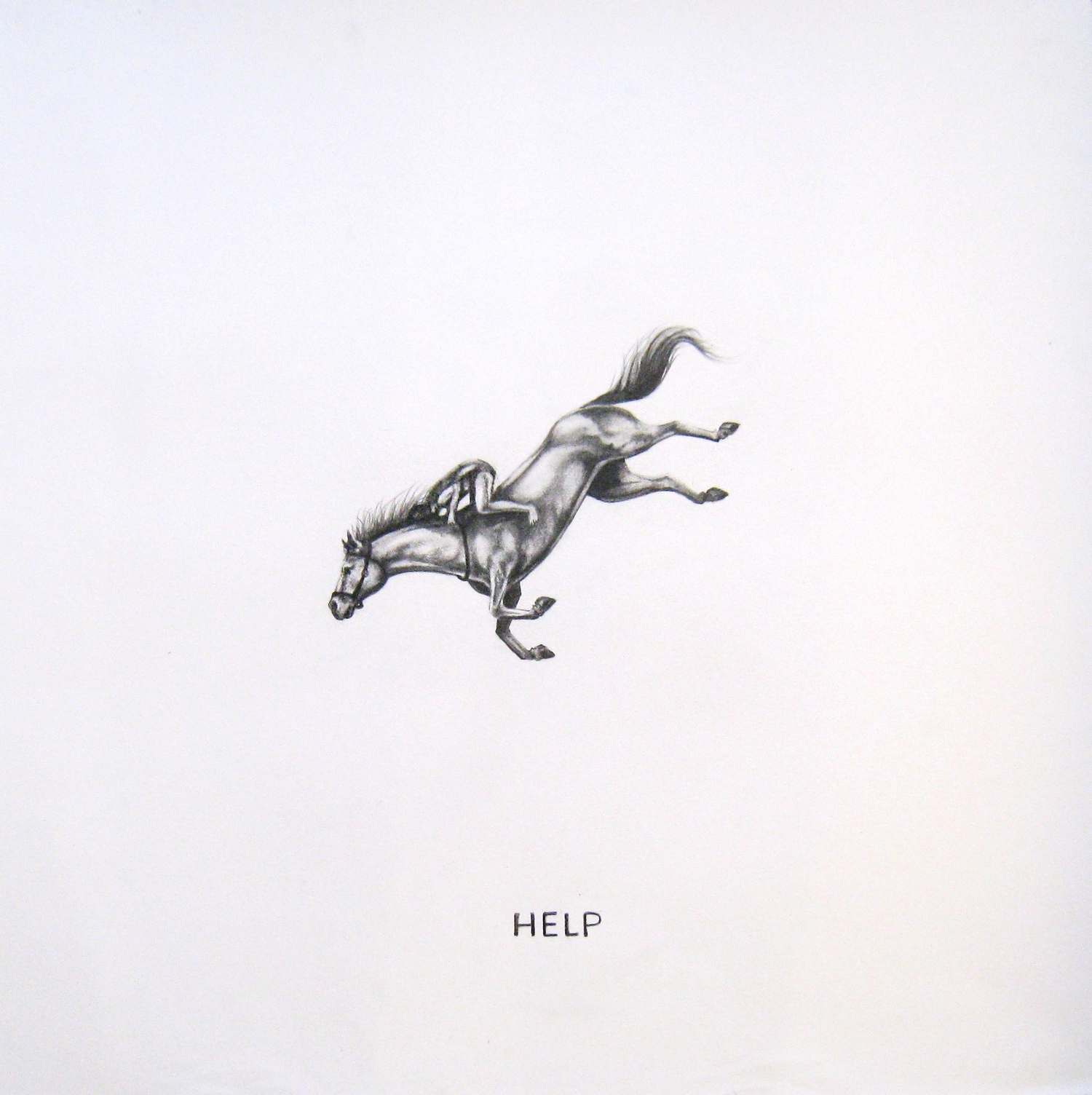 """Contingency 6(Leap), 2014  Graphite on Paper  20x20"""""""