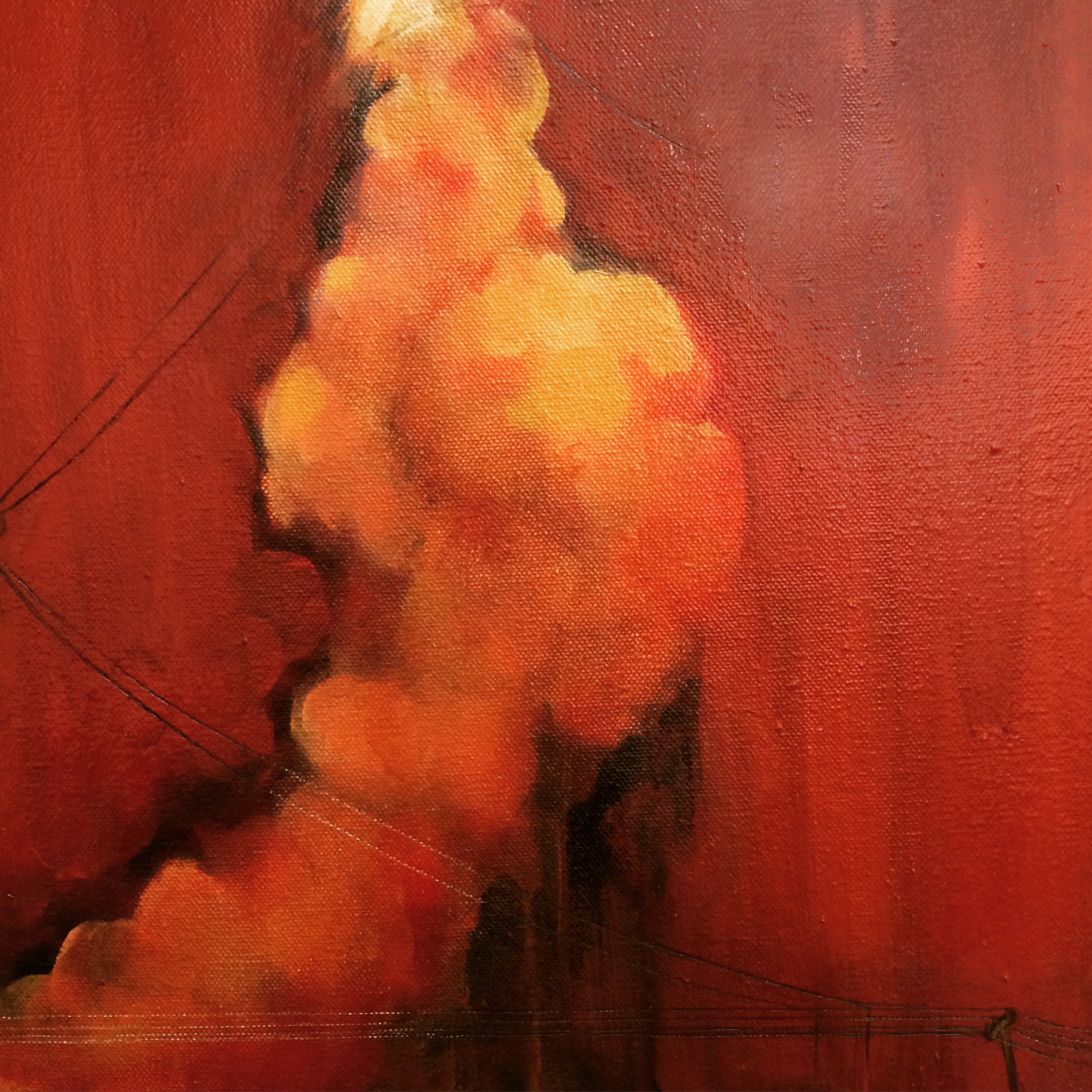 Contingency (Once Challenger) , 2015  Oil on canvas  12x12""