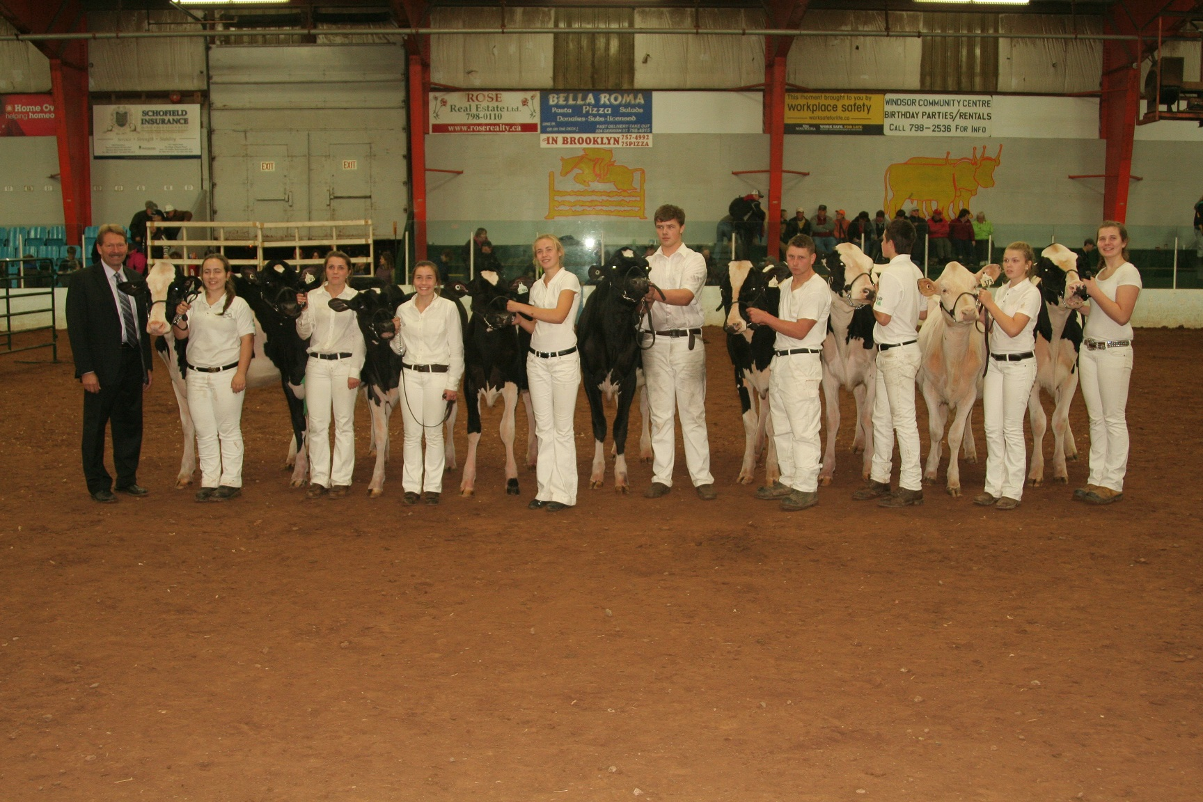 From the left Judge Neil Kittle 1st - Taylor Masters (Colchester) 2nd - Hayley Wilson (Inverness) 3rd - Sarah Wilson (Inverness) 4th - Lane Yuill (Colchester) 5th - Cole Yuill (Colchester) 6th - Albert Ellis (Halifax/East Hants) 7th - Riley Masters (Colchester) 8th - Lesley Anderson (Halifax/East Hants) 9th - Charlea Lowe (Colchester)
