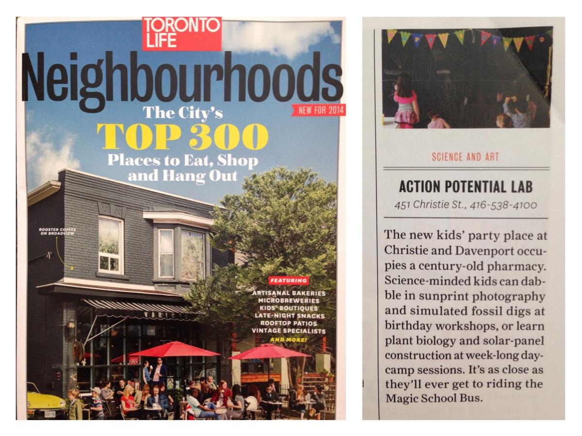 """Science and Art,"" Toronto Life Magazine, Neighbourhood Guide, 2014"