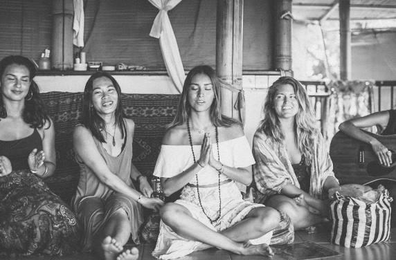 Marketing Manager (not in the photo), Santosha Yoga Institute, Bali, 2016. -