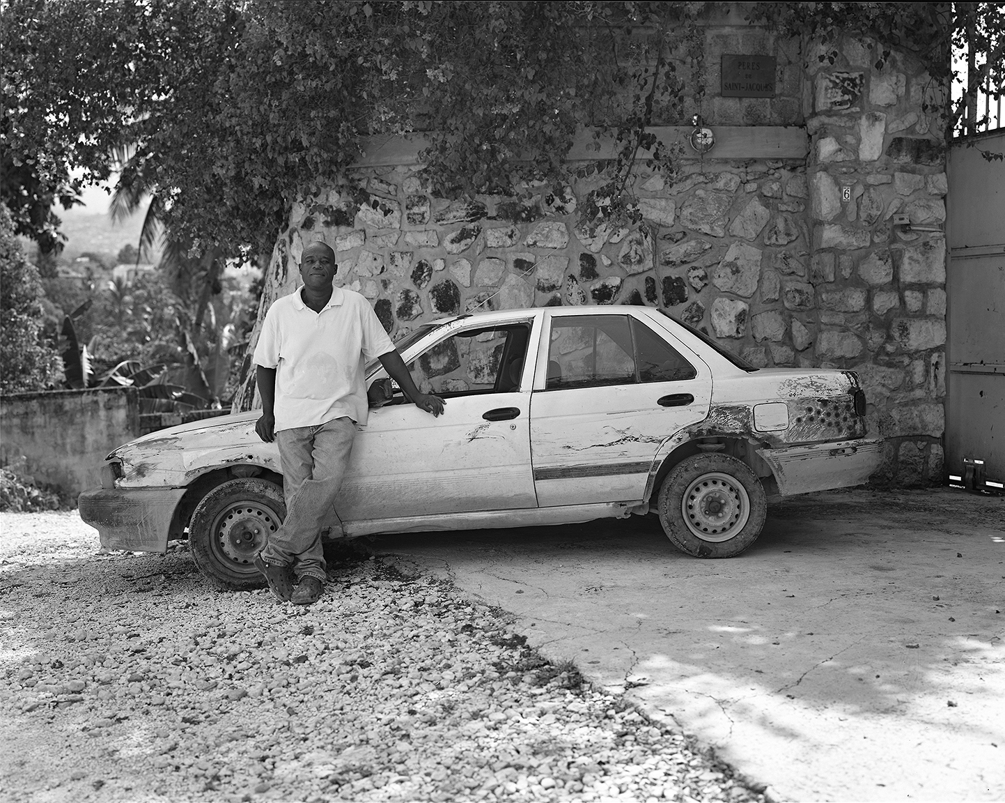 Evens Bruno With His Car, Fontemara, May 2012