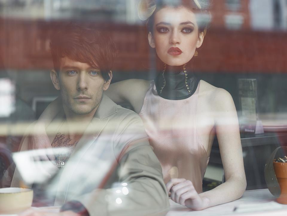 Photo featured in Tatler UK; Designer Nina Athanasiou, Fashion models James Gallagher and Lohla Dahda, Photographer Simon Gentry and Hair stylist Makeup artist Kayla Zeleny