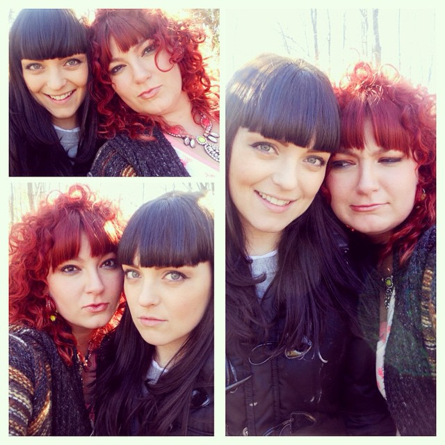 #KaylaZ and fx Artist and my good friend #SamanthaEvers! On set takin #selfies Great day working with a great team!
