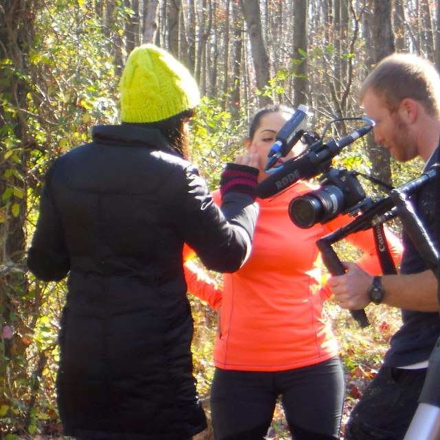On set hair and makeup done-by #KaylaZ for short film cast and crew @iamtyreese @car1406 @bucklerproductions @leafayem
