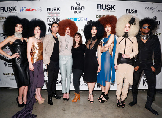The team of models with Nina Athanasiou, at Nolcha Fashion Week 2014 ( I am the second from the left )