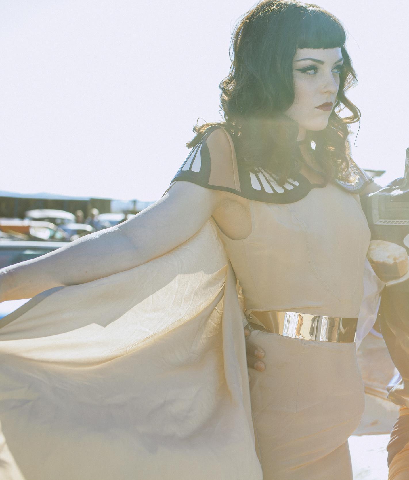 Featured Photo on Wowcracy.com. International Fashion Designer Nina Athanasiou ; Model Kayla Zeleny ; Photographer Andreas Huber