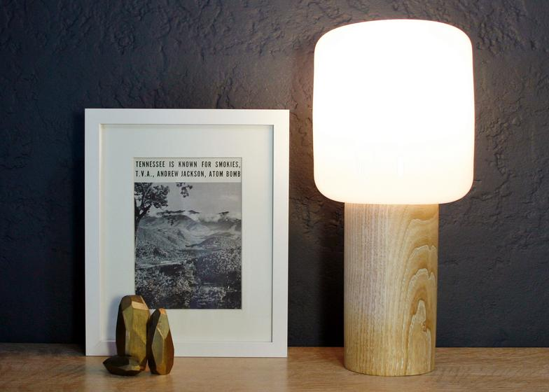 """Little Boy lamp made for American Design Club's """"Hometown Homage"""" event."""