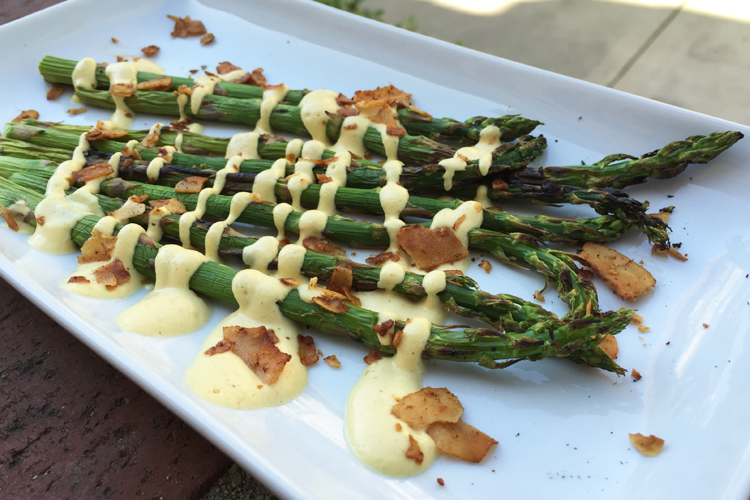 Asparagus and Hollandaise is a match made in heaven.... and since we live in California, we already get to use our grill in March!