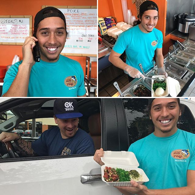 Call in your order for fast and easy curbside pick-up! 🤙🏽 (Handsome Hawaiian not included.)