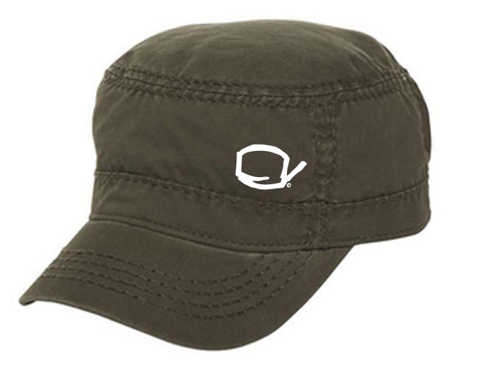 Beer in This Town - Fidel Cap: Washed Olive Green