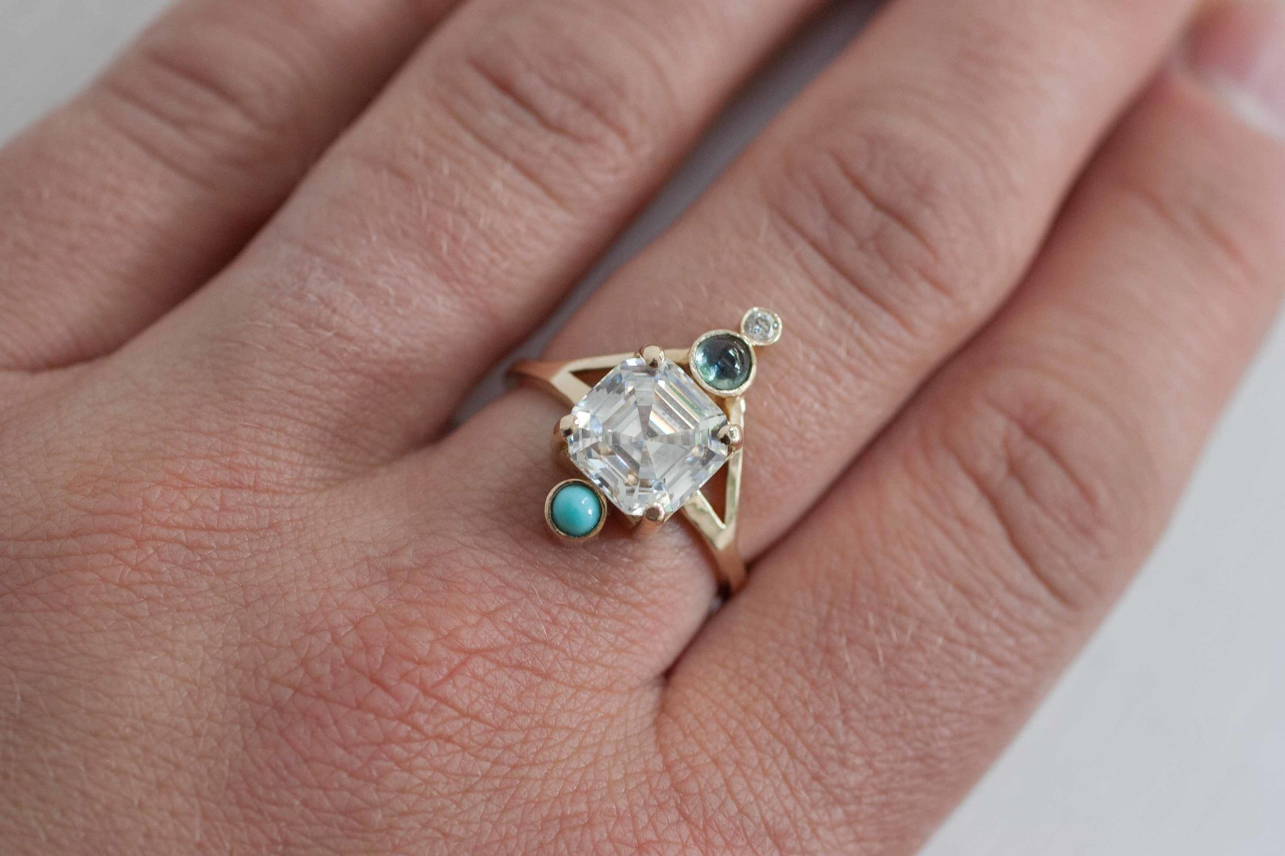 Heather Stevens CZ, turquoise, sapphire diamond Ring-9.jpg