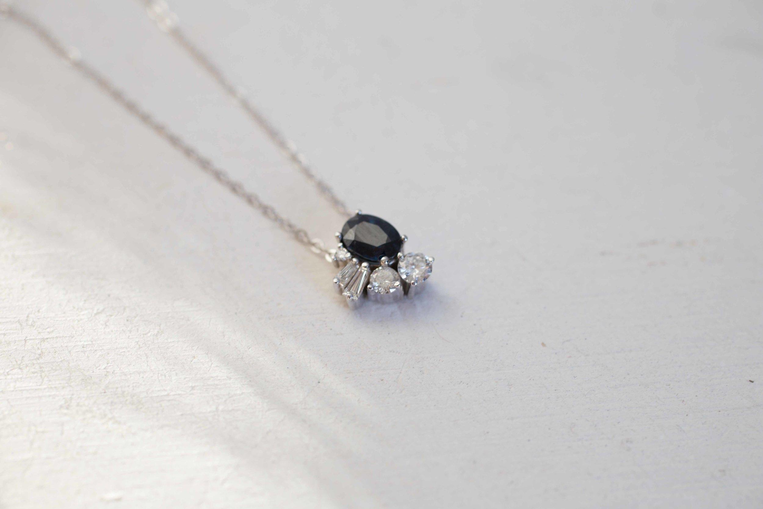 Kirstin Anderson Sapphire Diamond Cluster Necklace-1.jpg