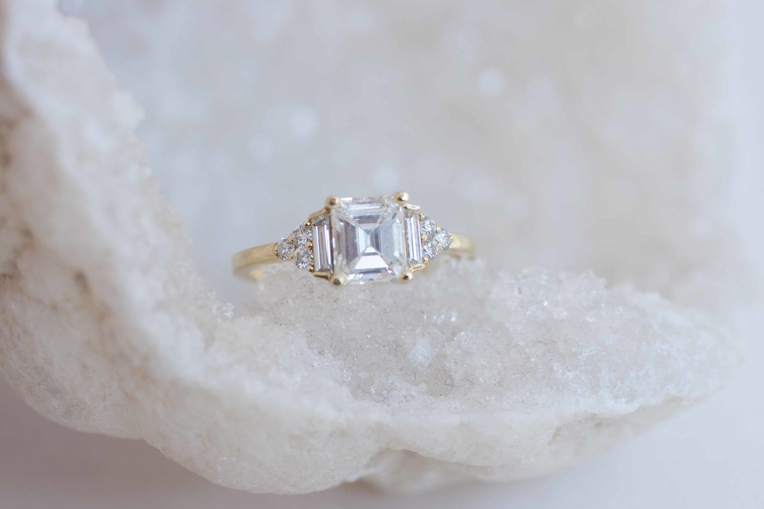Kim + Derek Heirloom Emerald Cut Diamond Cluster-6.jpg