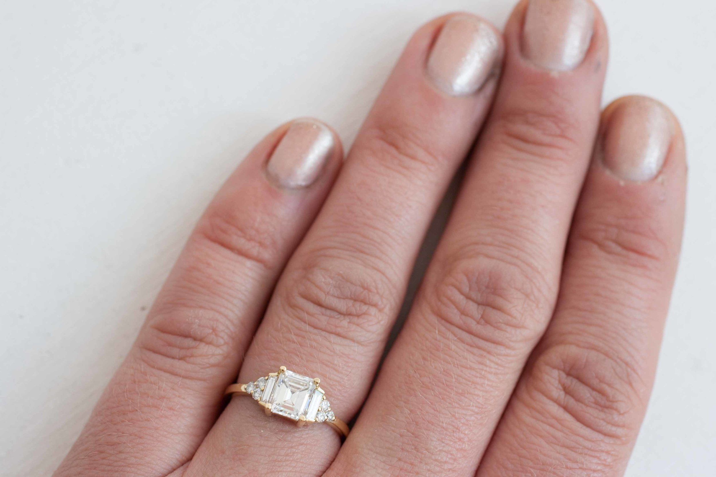 Kim + Derek Heirloom Emerald Cut Diamond Cluster-10.jpg