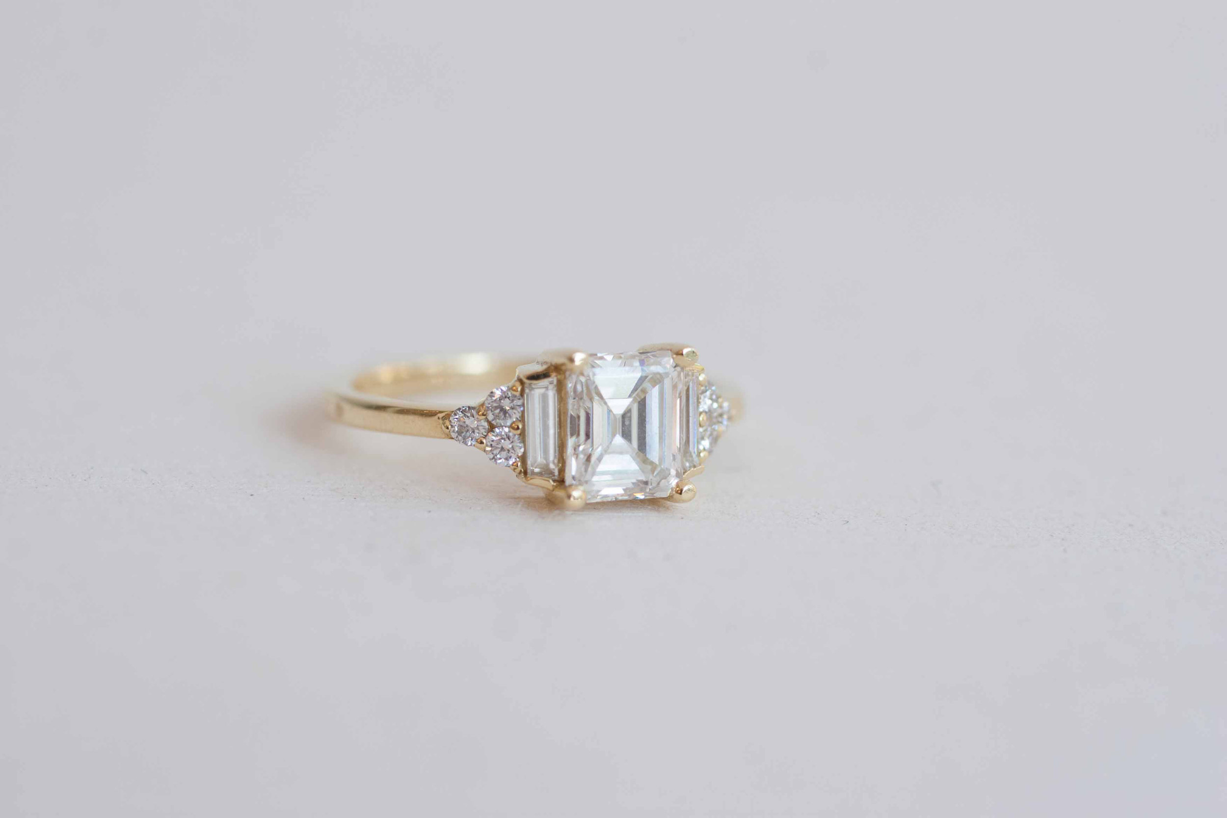 Kim + Derek Heirloom Emerald Cut Diamond Cluster-1.jpg