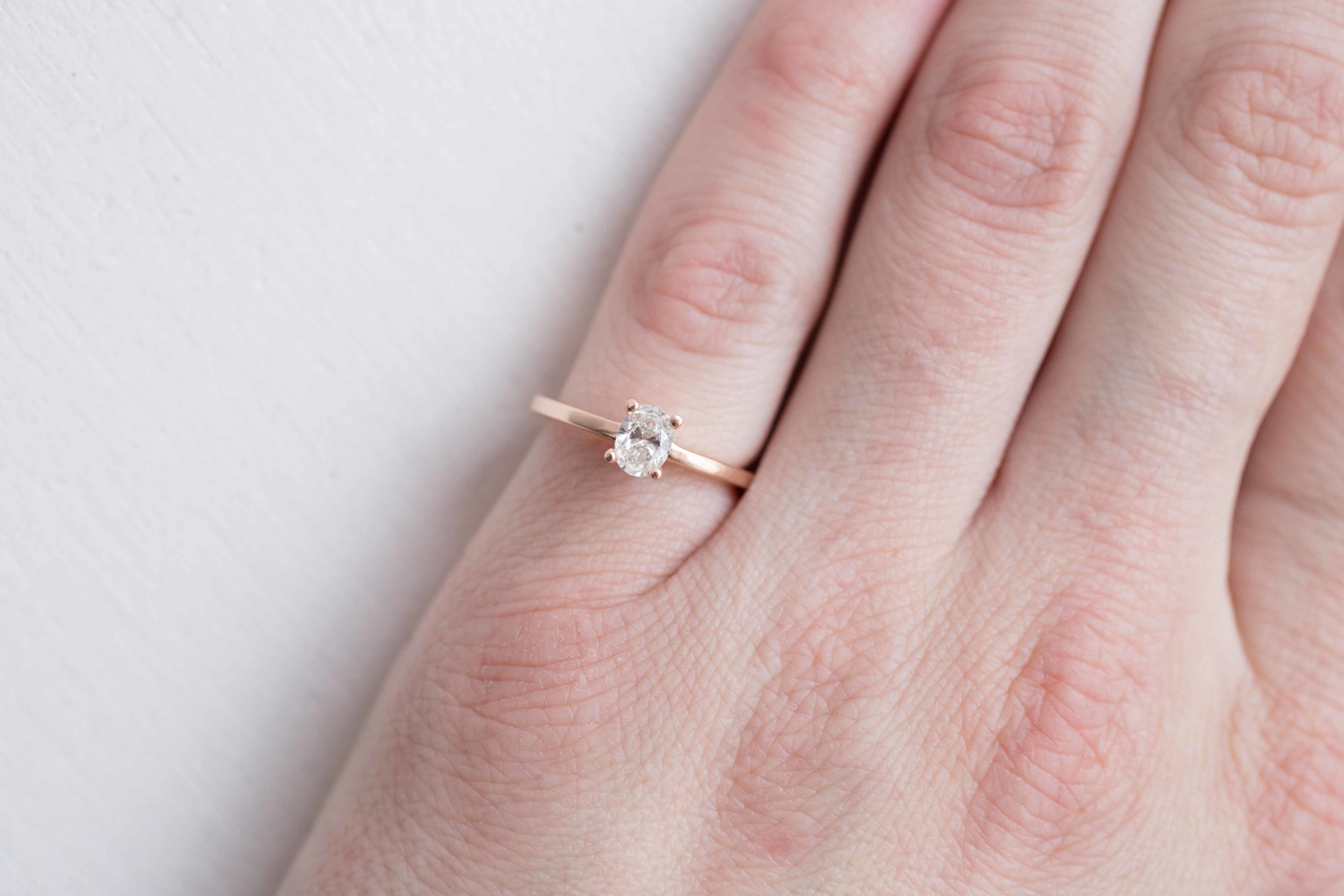 Robert Guertin Custom Oval DIamond Solitaire Rose Gold Engagament Ring-5.jpg