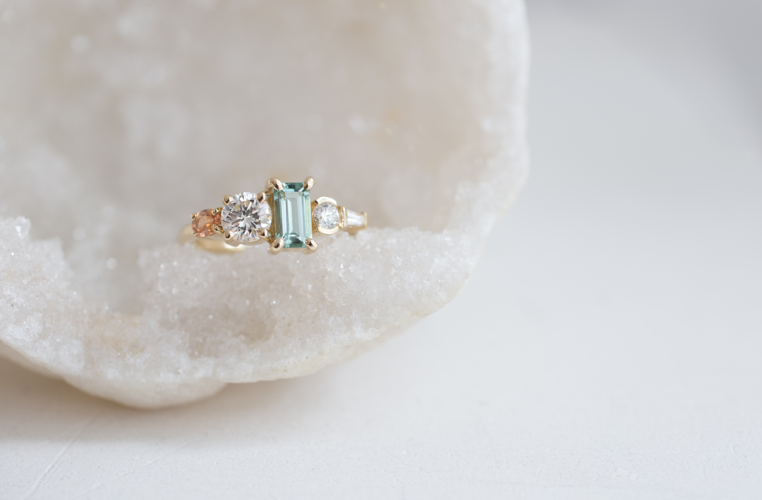 Laura Morris Tourmaline, Diamond, + Sapphire Engagament Ring-10.jpg