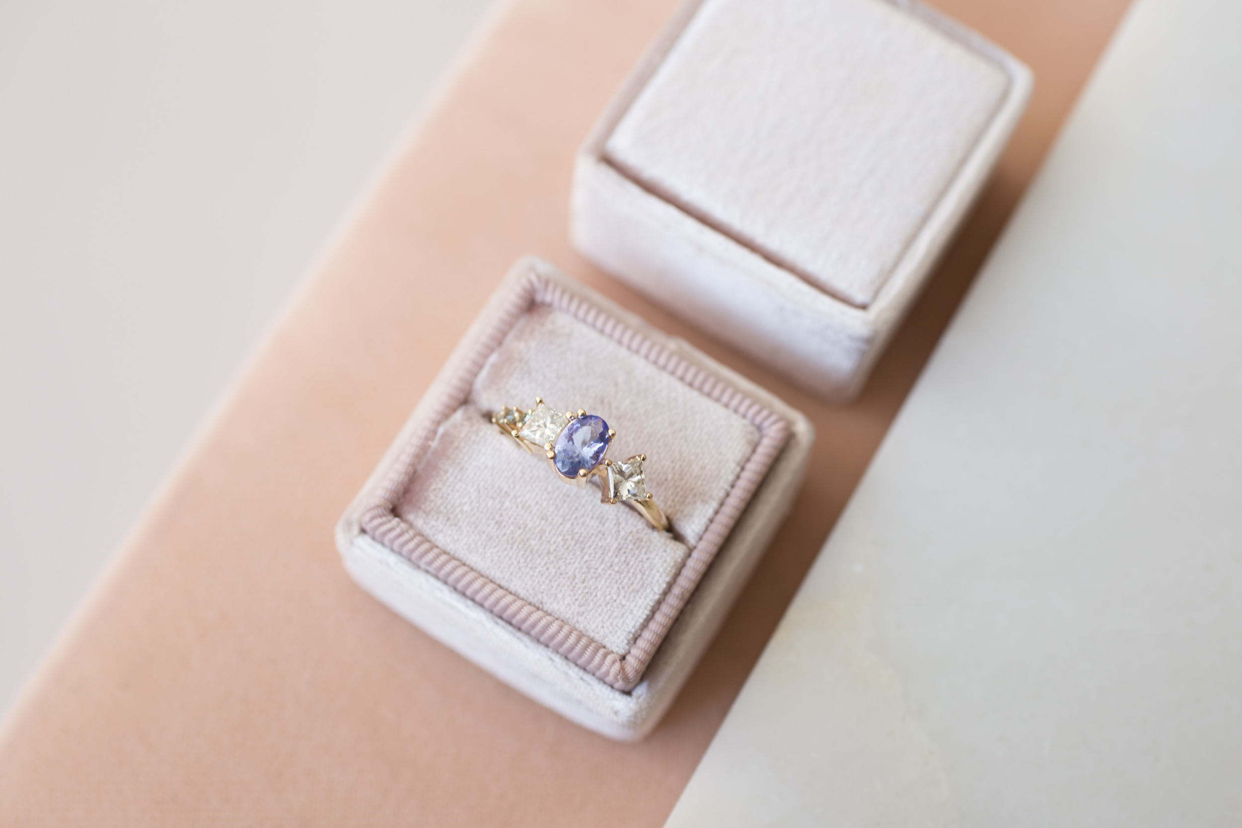 Kristina + Patrick Tanzanite Diamond Cluster Ring-2.jpg