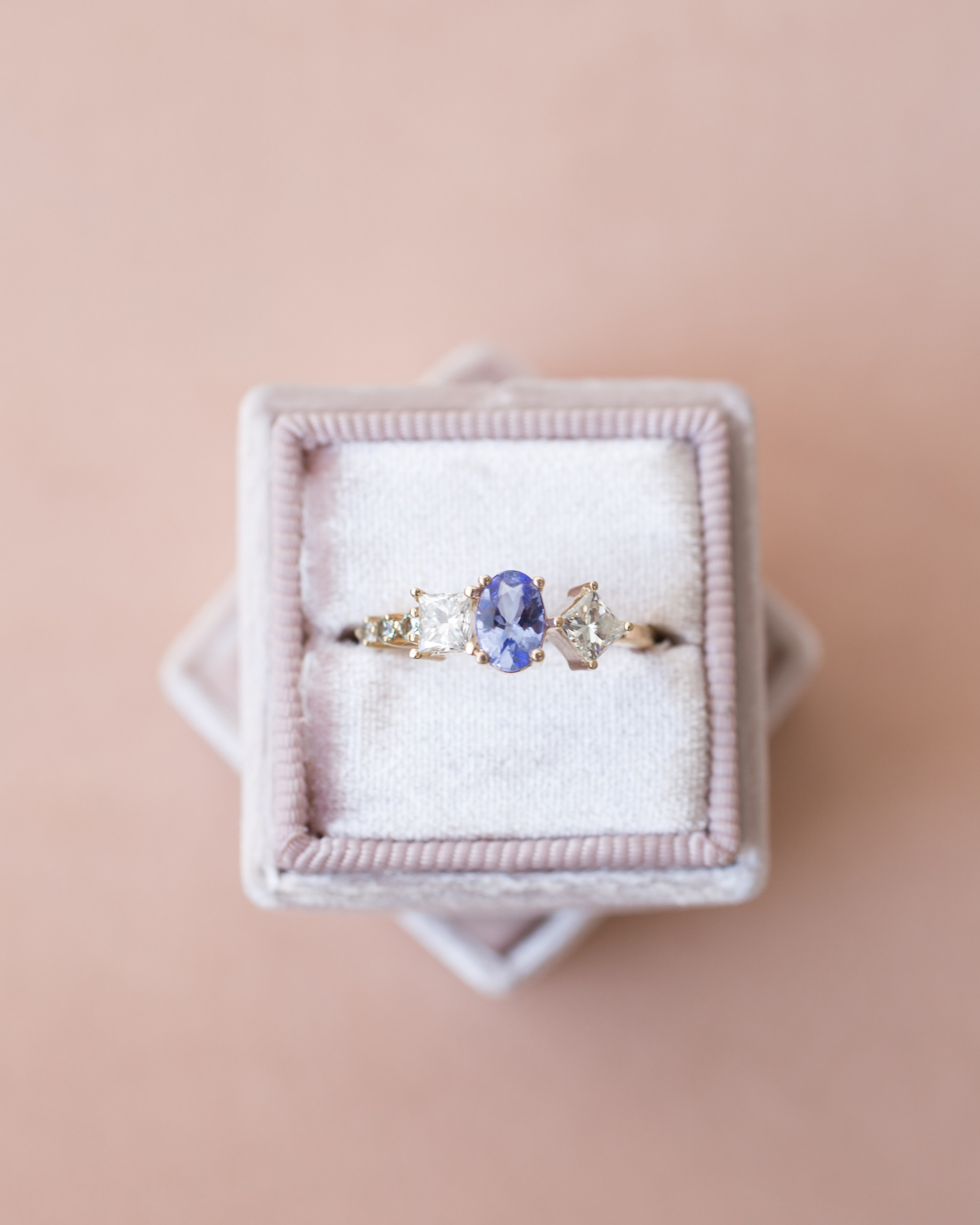 Kristina + Patrick Tanzanite Diamond Cluster Ring-instagram.jpg