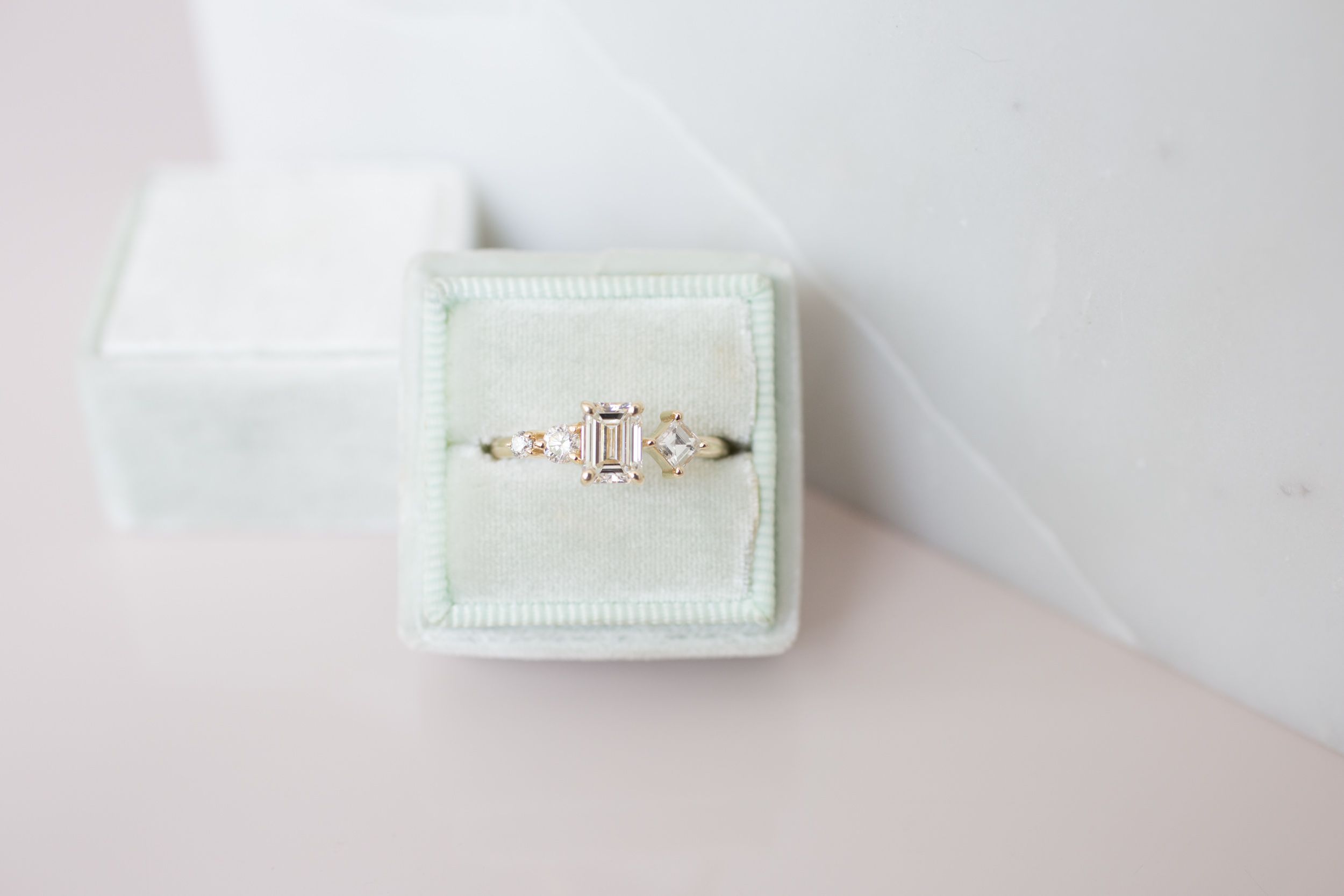 Sam + Danny Balogh Emerald Cut Diamond Line Cluster Ring-10.jpg