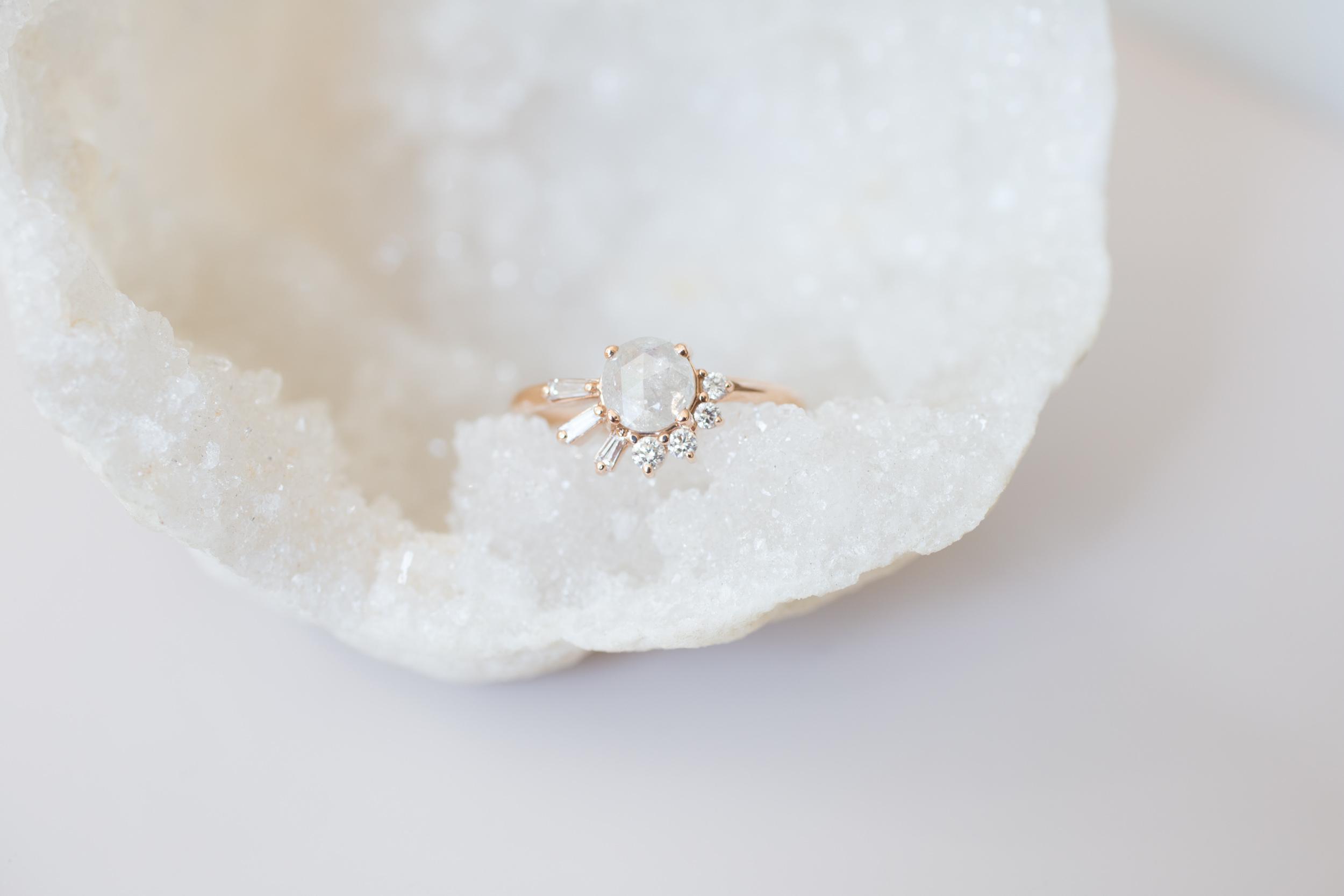 Peter J. Rustic Diamond Baguette Round Cluster Ring-4.jpg
