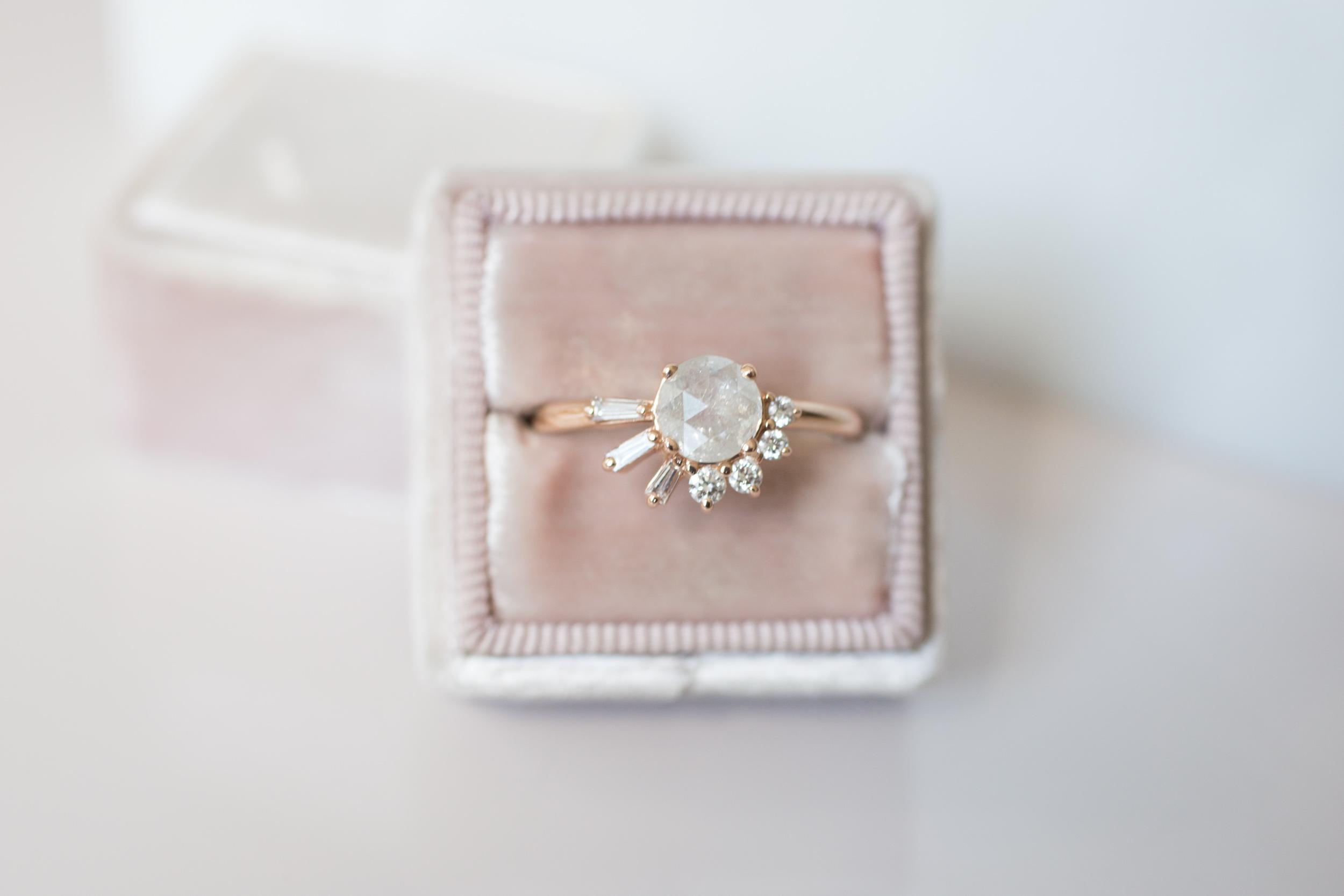 Peter J. Rustic Diamond Baguette Round Cluster Ring-1.jpg