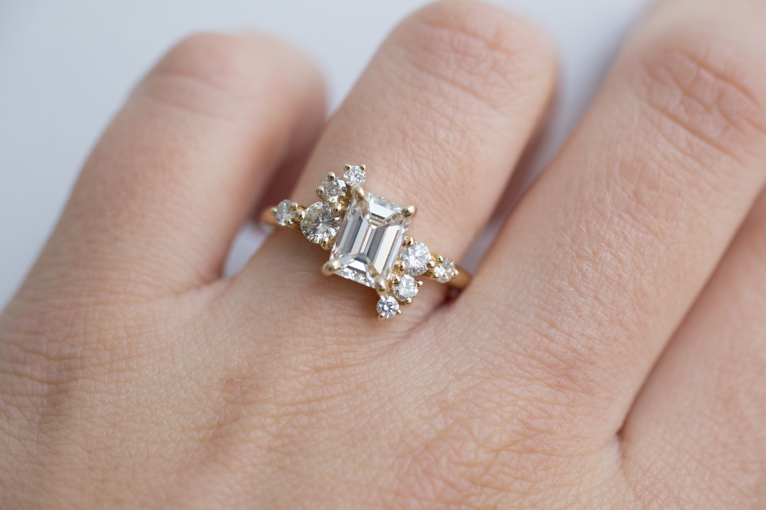Lance + Kaylee Heirloom Emerald Cut Diamond Cluster Ring-11.jpg