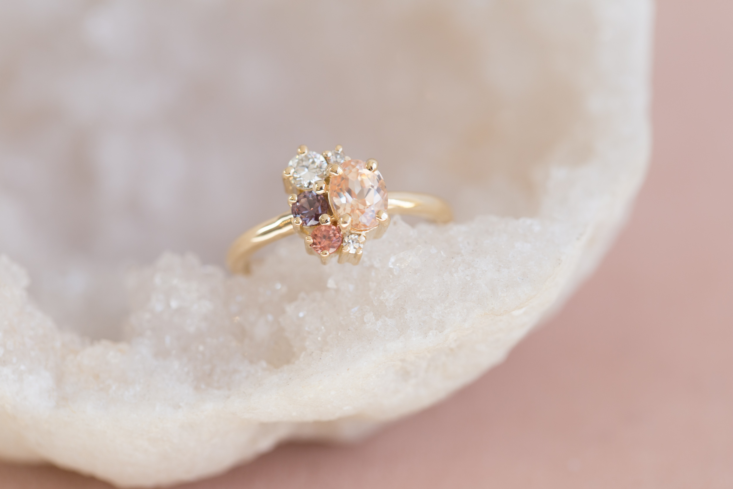 Amanda + Gerardo Sapphire Cluster Ring-1.jpg