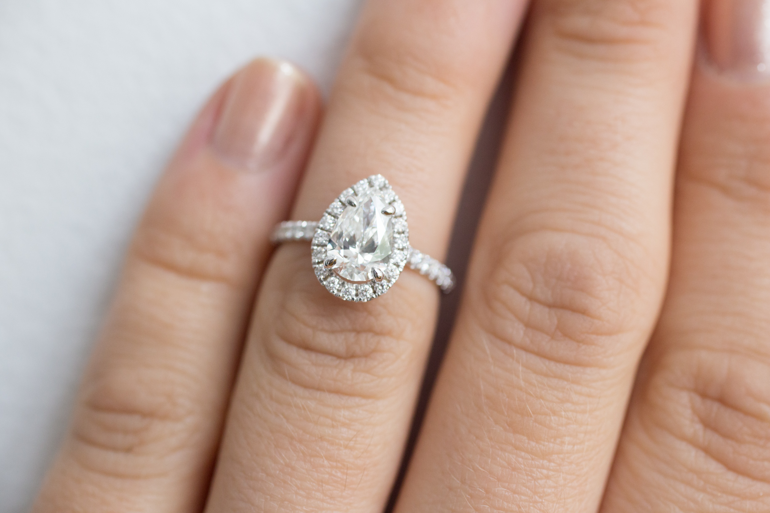 Charlie + Abi 1.2 ctw Pear Diamond Halo Engagement -24.jpg