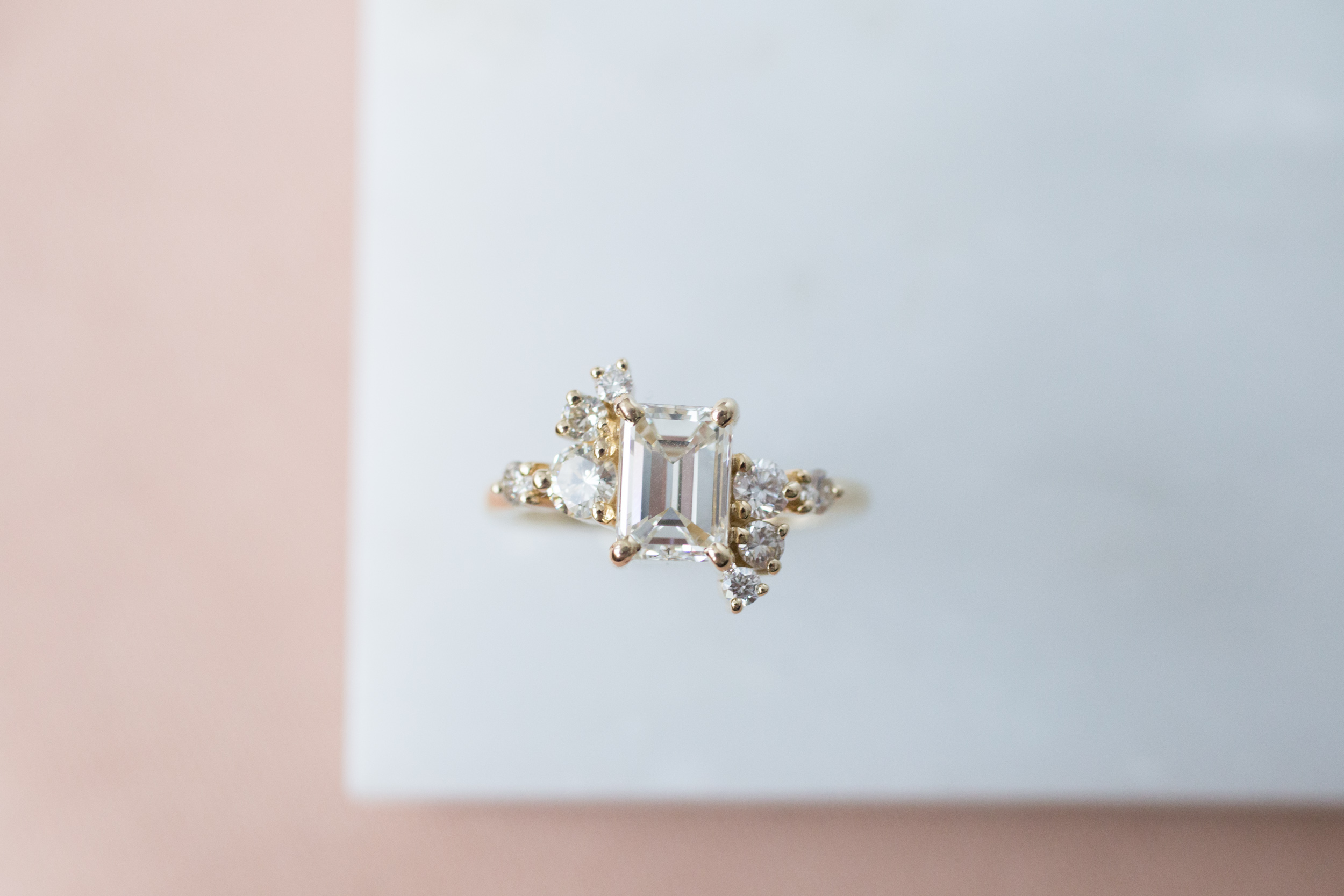 Lance + Kaylee Heirloom Emerald Cut Diamond Cluster Ring-9.jpg