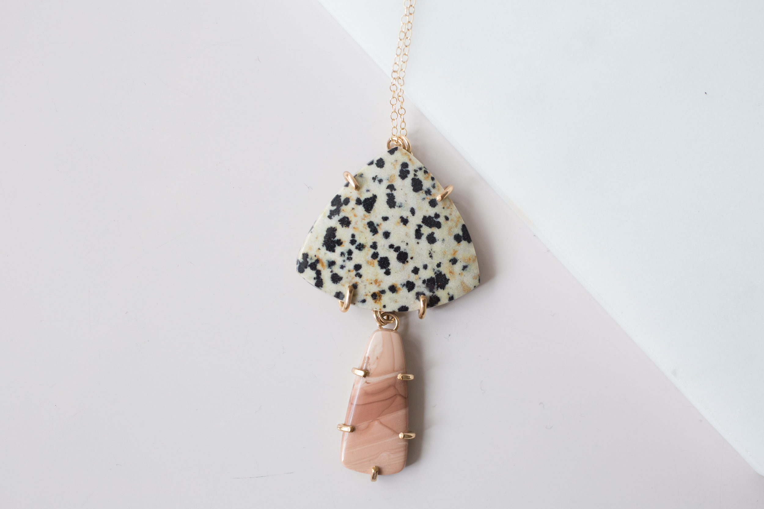 Jaguars on Dalmatian Jasper Necklace Sets