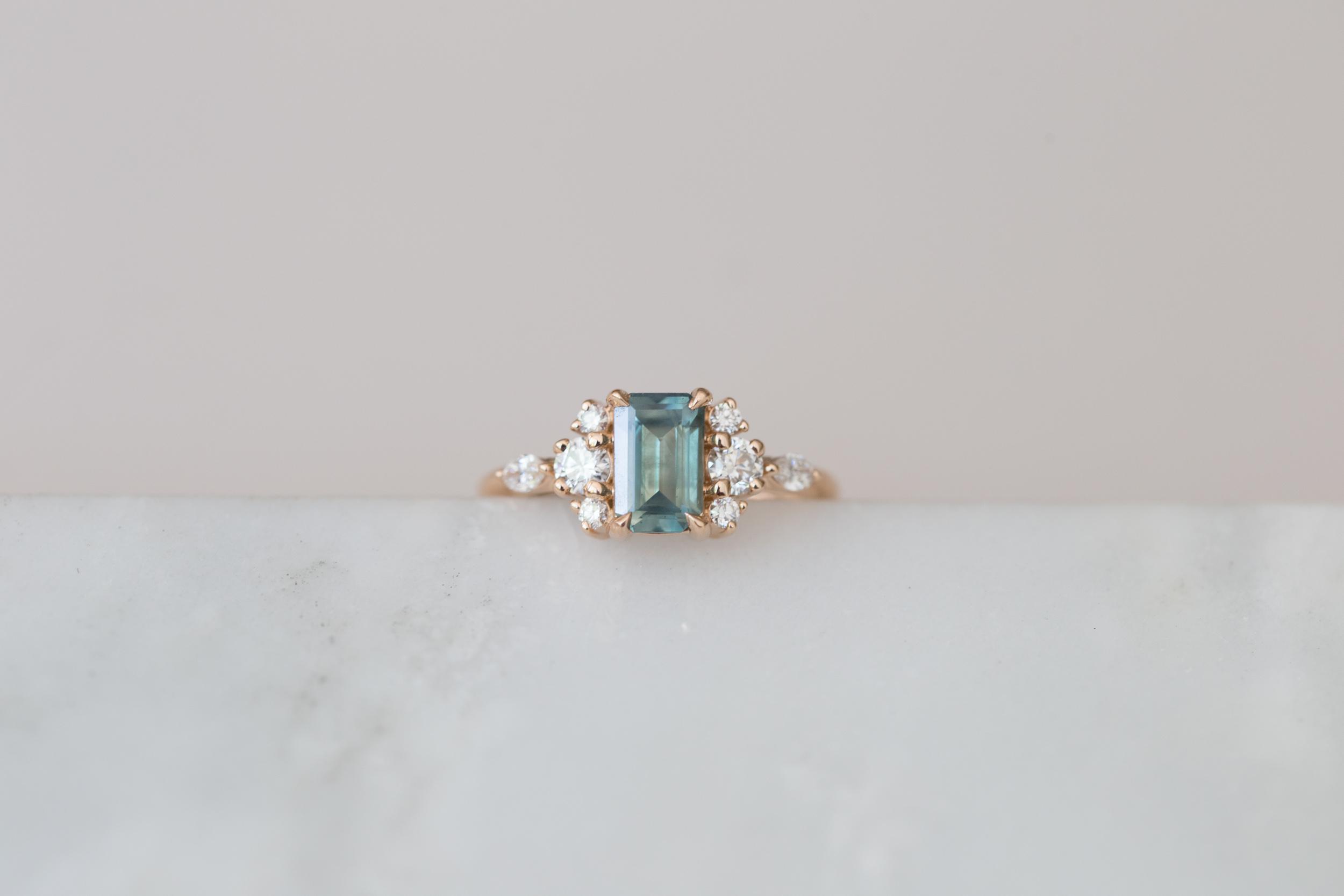 Cate + Andrew Montana Sapphire Emerald Cut Diamond Cluster-6.jpg