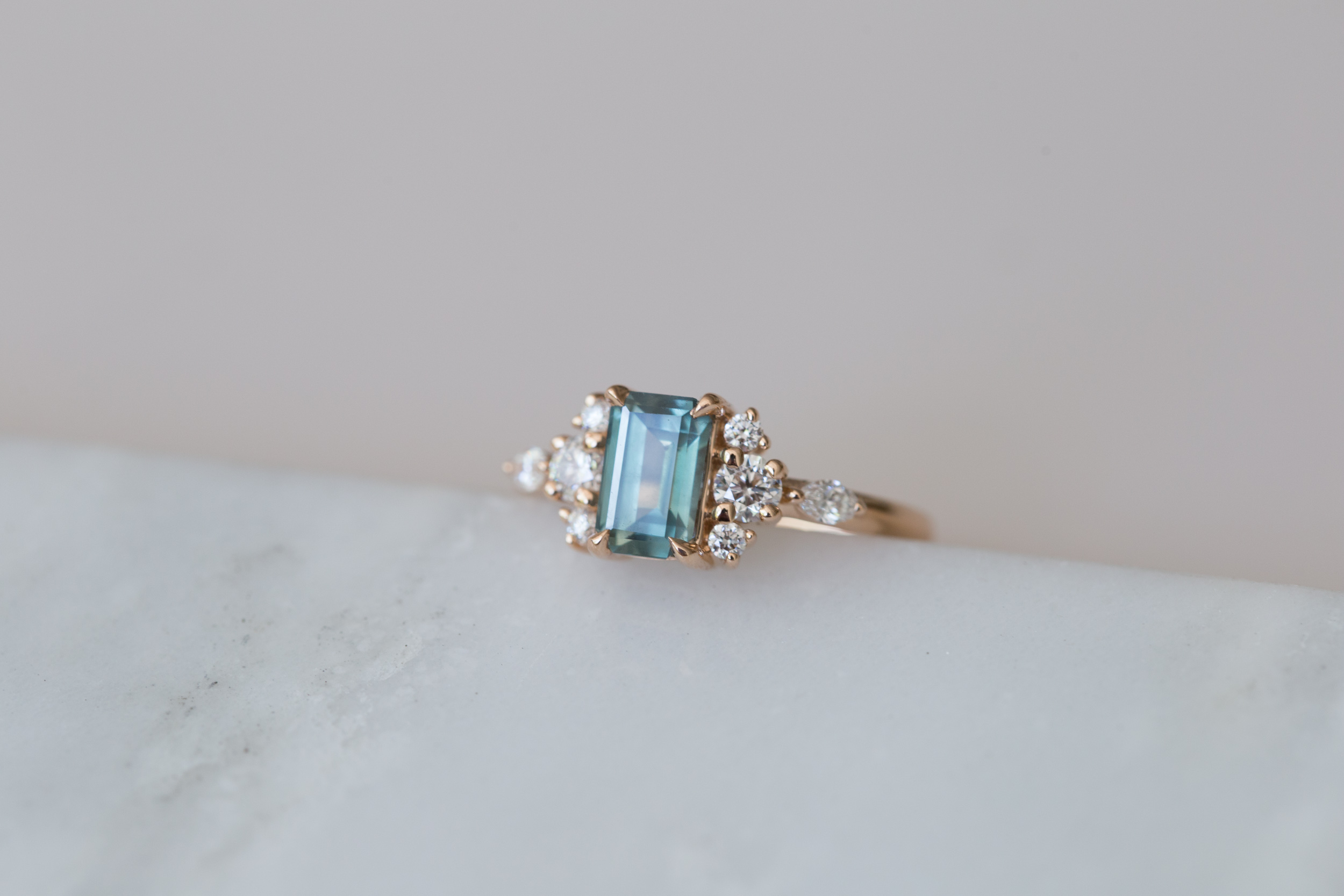 Cate + Andrew Montana Sapphire Emerald Cut Diamond Cluster-7.jpg