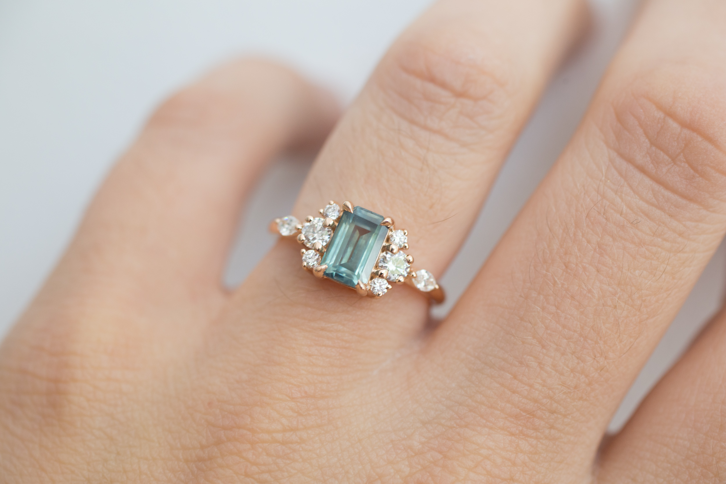 Cate + Andrew Montana Sapphire Emerald Cut Diamond Cluster-10.jpg